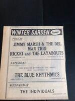 F9-1 Ephemera 1965 Advert Winter Gardens Cornwall Jimmy Marsh Del Mar Trio
