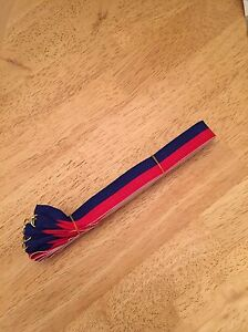 Medal Ribbon / Lanyard Red And Black with Gold clip 22mm wide