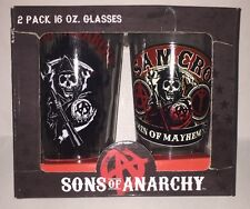 Sons of Anarchy 16 Ounce Pint-Style Glasses - 2 Pack New Box has shelfware