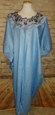 Blue Kaftan Traditional Ethnic Clothing Women Suit African 1 PC Dress