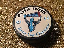 Atlanta Knights 1993-94 Turner cup Champions IHL Hockey Puck