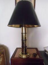 Lampe  vintage année 70 en métal doré   style bambou ,
