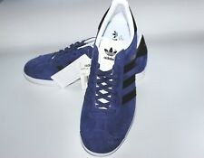 Brand new + tags Adidas Originals Gazelle Blue Black Stripes White Sole UK 8.5