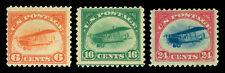 US 1918  AIRMAIL - Curtiss Jenny set  Scott # C1-C3  mint MH