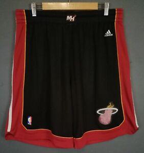 ADIDAS MEN'S MIAMI HEAT 2012/2013 BASKETBALL NBA HOME SHORTS PANTALONES SIZE XL