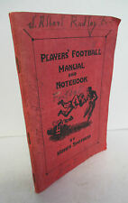 1929 PLAYERS' FOOTBALL MANUAL & NOTEBOOK by Homer Smothers