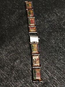 USSR Watch Bracelet  Rose Handmade Plexiglass band Soviet Prison Art 70-80s