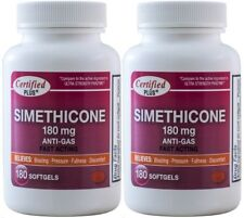 Simethicone 180 mg Gas Relief Generic for Phazyme Ultra Strength 360 Gelcaps