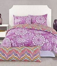 Trina Turk 2pc JUNGLE BLOOM TWIN TWINXL COMFORTER SET Purple Floral Dot MODERN