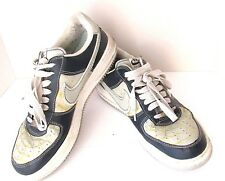 Nike Air Force One Mens Size 10 Custom Made Gray Blue Gold Low Top