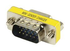 VGA Male Coupler / Joiner / Adaptor M-M 15 pin VGA Gender Changer