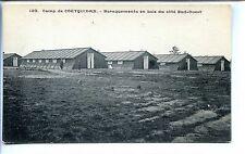 CP 56 MORBIHAN - Camp de Coëtquidan - Baraquements en bois du côté Sud-Ouest