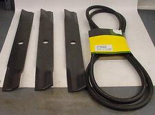 "JOHN DEERE Blade & Belt set M141785 M140021 60"" deck on 420 430 755 855 955"