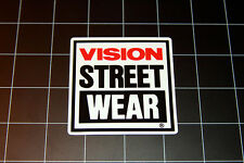 Vision Street Wear skateboard vinyl decal sticker 80's skate 1980's 90's VSW