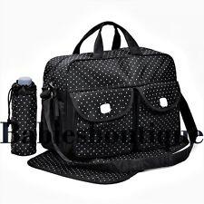 Black 3pcs Baby Diaper Nappy Changing Bag Set D Star Design