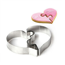 Heart Puzzle Cutter Cookie Fondant Icing Biscuit Cutter Pastry Cake Baking Craft
