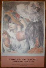 Steinlen Renoir Toulouse Lautrec lot de 5 affiches offset idéal décoration