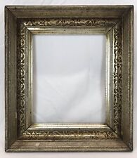 Antique Mid 19th C Silver Lemon Gold Gilt Stenciled Frame 10 x 12 Opening