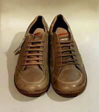 MEN'S CORONEL TAPIOCCA LEATHER LACE UP CASUAL SHOES 41 UK 8 - MOSS BROWN