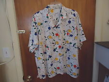 """Womens Alfred Dunner Size 44 Button Down Floral / Geometric Type Of Top """" BEAUTI"""