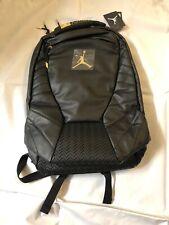 Nike Air Jordan Retro 13 Backpack Black/ Gold Cap & Gown Laptop Bag NWT