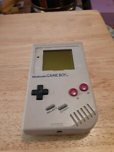 NES GAMEBOY WORKS NEEDS PARTS MISSING BATTERY COVER & PLASTIC SCREEN PROTECTOR