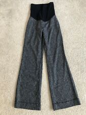 motherhood maternity Womens SMALL Heather Black Bootcut Dress Pants Mint Cond