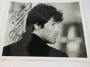 "Vintage Sylvester Stallone Autographed Studio Still Heaven sent 8"" x 10"""