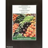 Experimental Foods: Laboratory Manual by Margaret McWilliams (Paperback, 2016)