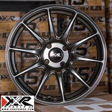 """Xxr 527 17"""" X 7.5J ET40 4X100 Negro Cromo-Juego de 4 ruedas"""