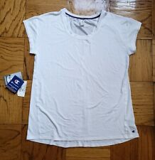 Nwot Champion Women'S Size L White Double Dry Workout T Shirt Top Short Sleeve
