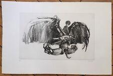 Lunven François gravure originale signée Art Abstrait Abstraction Lacourière