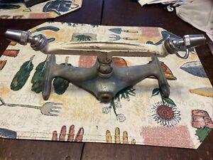 Vtg Antique Green WD Allen Spinning Rocketlike Yard Lawn Sprinkler Cast Iron