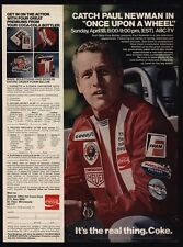 1971 PAUL NEWMAN - COCA COLA Racing - VINTAGE ADVERTISEMENT