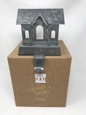 Pottery Barn GALVANIZED VILLAGE STOCKING HOLDER-SINGLE STORY-NIB-2018-QUANTITY
