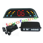 4 Parking Sensors Car Reverse Backup Front Rear LED Display System Alarm Radar