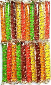 FRUIT JELLIES STRAWS 10/20/40 TIK TOK FRUITY JELLY PENCIL SWEETS KIDS PARTY BAGS