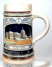 VINTAGE WASHINGTON DC SOUVENIR POTTERY ILLUSTRATED MUG
