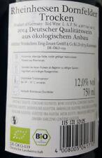 6x 750ml Rheinhessischer ehemaliger Biowein Dornfelder 2014 12%