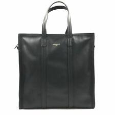 9e860c6938 New Balenciaga Bazar Medium Leather Shopper Tote Bag Black 443097-DL
