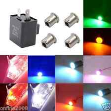 Car Electronic 2 Pin 12V LED Turn Signals Fix Flasher+4 COB Light Buld 7 Colors