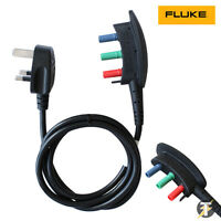 Fluke 166X-MTC UK Mains Test cord for 1650 and 1660 Series Multifunction Testers