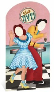 1950'S LET'S JIVE STAND IN - 1.92m Grease Party Decoration Cardboard Cutout