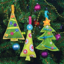 Felt Embroidery Kit ~ Dimensions Cheery Tree Christmas Ornaments #72-08169
