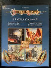 1993 Ad&d Dlc2 Dragon Lance Classics Volume II TSR 9394 With Map