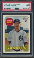 2018 Topps Heritage High Number #603 Gleyber Torres Rookie Card RC PSA 9 Mint