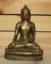Vintage hand made brass Gautama Buddha statuette