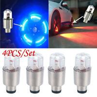 4Pcs Car Wheel Tyre Valve Cap Light Wheel Tire Bulb Bike LED Flash Lamp 7 Color