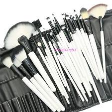 32pcs White Soft Cosmetic Eyebrow Shadow Makeup Brush Tool Set Fundation Kit Bag