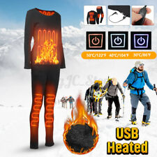 Men Women Electric Heated Underwear Suit Thermal Elastic Heating Pants Winter